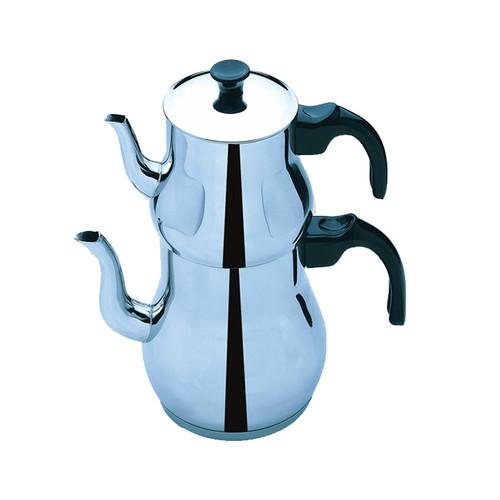 MIMARSINAN Classic Steel Tea Pot Set (Klasik Metal Caydanlik)