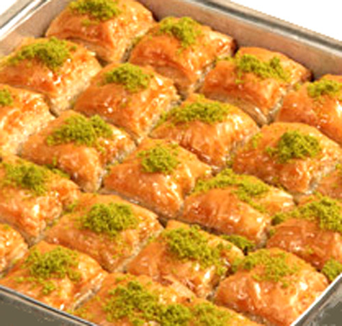 BAKLAVA WITH PISTACHIO 453GR