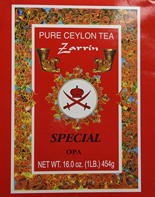 ZARRIN Pure Ceylon Tea ''Special Opa'' Red Box 454g