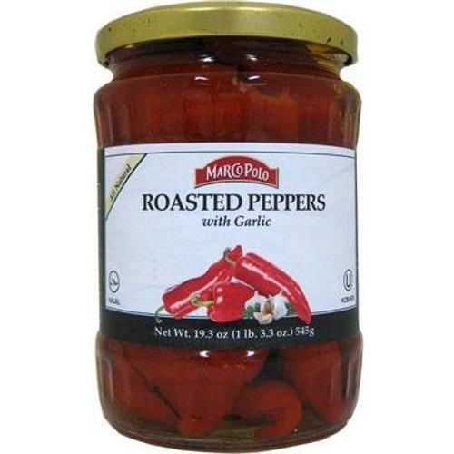 MARCO POLO Fire Roasted Red Peppers w/Garlic 550g