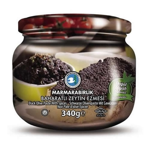 MARMARABIRLIK Black Olive Paste w/Spice 340g