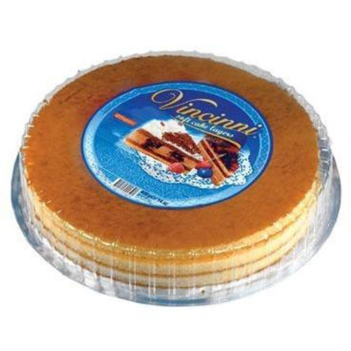 Vincinni Round Soft Cake Layer (Pre-Baked Light Vanilla)