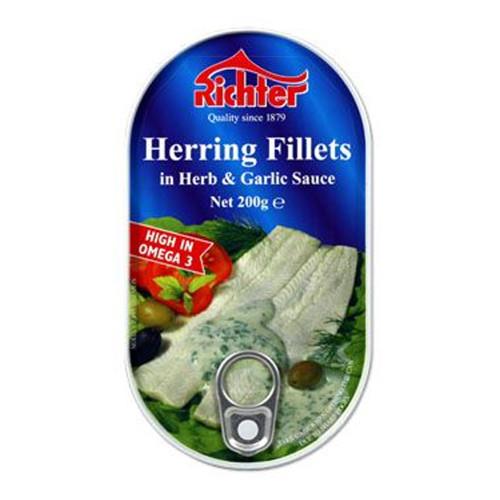 Richter Herring Fillet in Herb & Garlic Sauce 200g