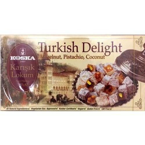 Koska Turkish Delight Hazelnut,Pistachio, Coconut