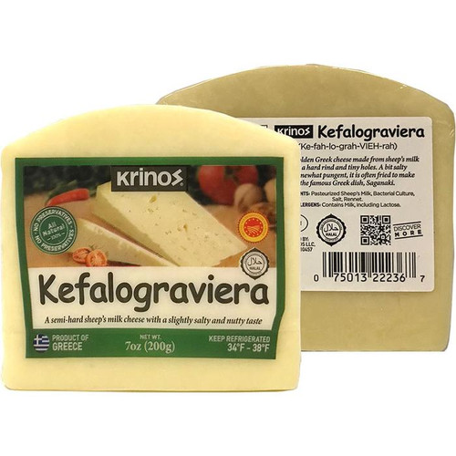 KRINOS Kefalograviera Cheese Wedges 200g