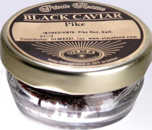 Russian (Pike) Black Caviar 57 g ( 2 oz ) glass jar