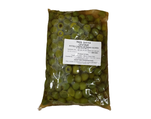 DIVINA Pitted Castelvetrano Green Olives 2kg