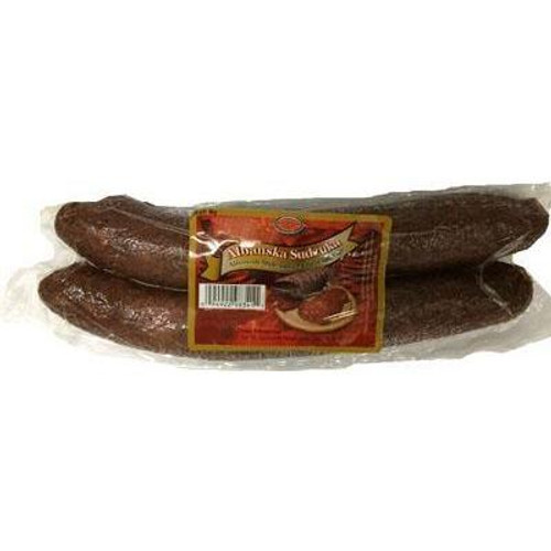 Albanian-Style-Smoked-Beef-Sausage-83100   Brother & Sister Albanian Style Smoked Beef Sausage (Albanska Sudzuka)
