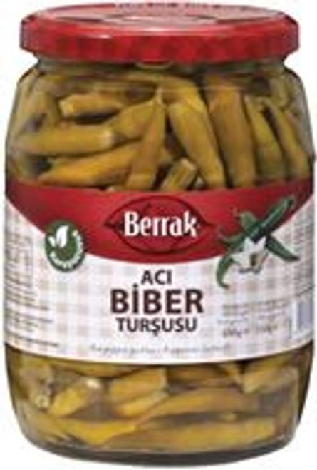BERRAK HOT PEPPER PICKLES 720ML GLASS