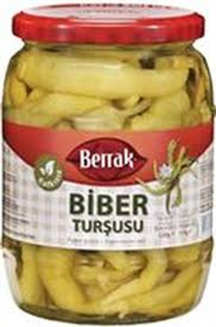 BERRAK MILD(TATLI)  PEPPER PICKLES 720ML GLASS