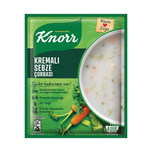 KNORR Cream of Vegetable Soup (Kremalı Sebze Corbasi) 68g