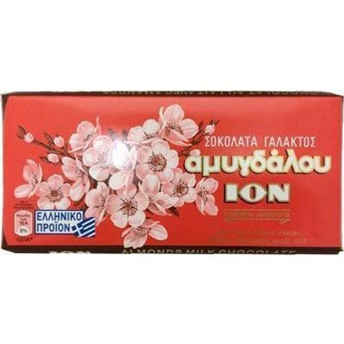 ION Greek Milk Chocolate Bars w/Almonds 100g