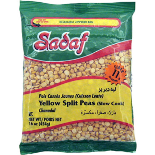 SADAF Yellow Split Peas (Toor Dal) 16 oz - 454g