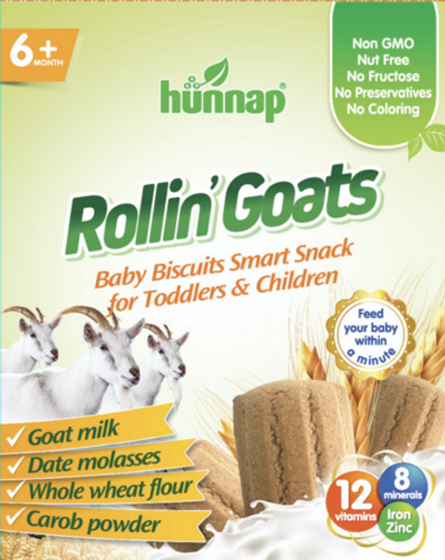 Rollin' Goats - Whole Wheat Baby Biscuits with Goat Milk HUNNAP