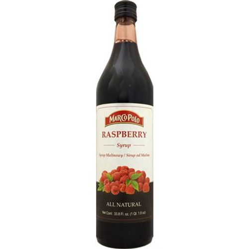 MARCO POLO Raspberry Syrup 33.8 Fl oz