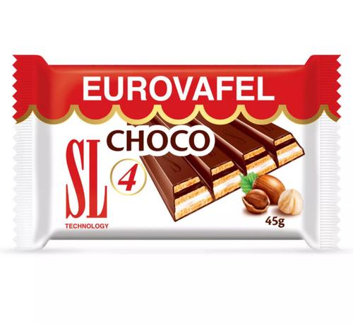 EUROVAFEL Biscuit 4 Bars w/Chocolate