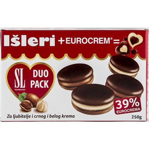 ISLERI Eurocrem Biscuit Duo Pack 250g