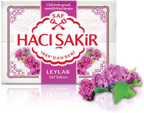 Haci Sakir  Traditional Bath Soap 4pk  (Lilac)   600g.
