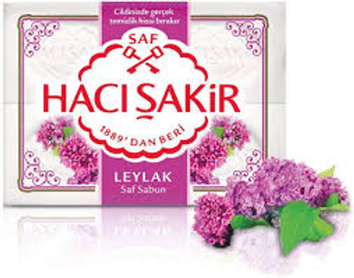Haci Sakir  Traditional Bath Soap 4pk  (Lilac)   600g.