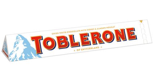 TOBLERONE Swiss White Chocolate With Honey & Almond Nougat