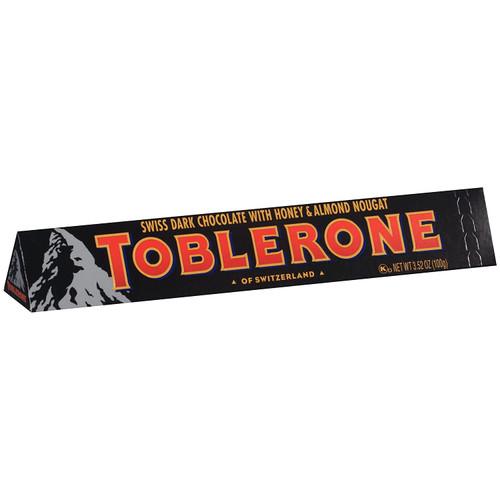 TOBLERONE Swiss Dark Chocolate With Honey & Almond Nougat