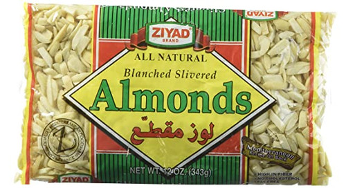 ZIYAD Blanched Slivered Almonds 343g