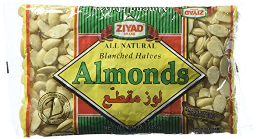ZIYAD Blanched Halves Almonds 343g