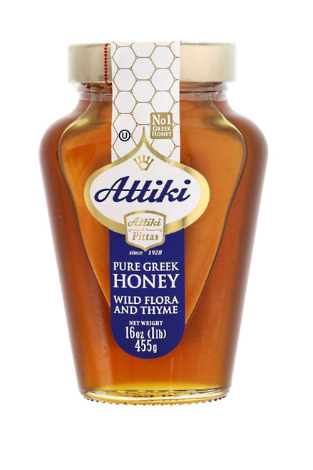 ATTIKI Pure Greek Honey Wild Flora and Thyme 455g