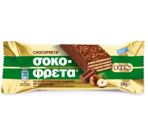 ION Chocofreta w/Hazelnut 38g