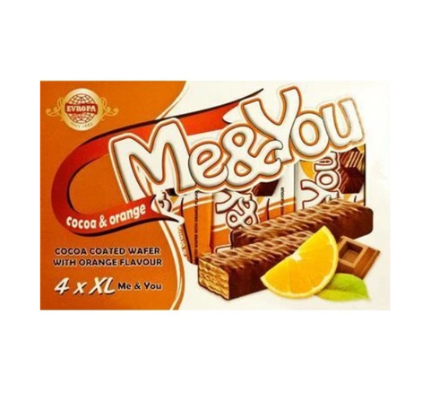 EVROPA Me&You Cocoa Coated Wafer w/Orange 152g (4 pc)
