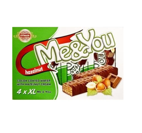 EVROPA Me&You Cocoa Coated Wafer w/Hazelnut 152g (4 pc)