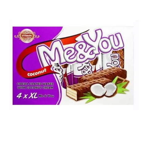 EVROPA Me&You Cocoa Coated Wafer w/Coconut 152g (4 pc)