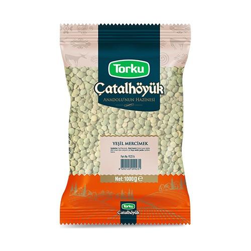 TORKU Catalhoyuk Green Split Lentils (Yesil Mercimek) 1kg