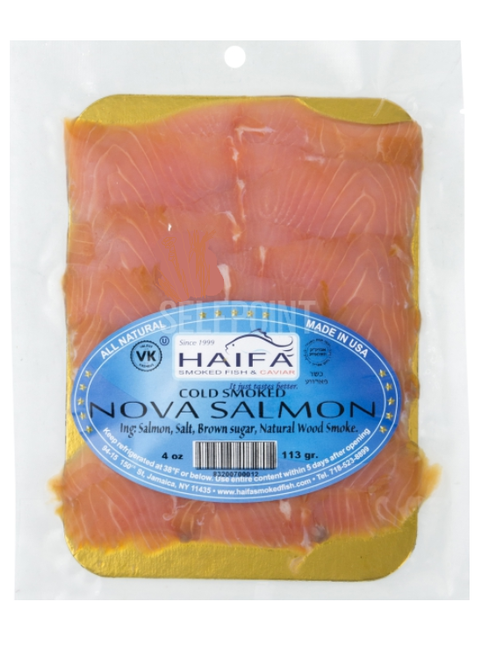 HAIFA Cold Smoked Nova Salmon 4 oz. (113g)