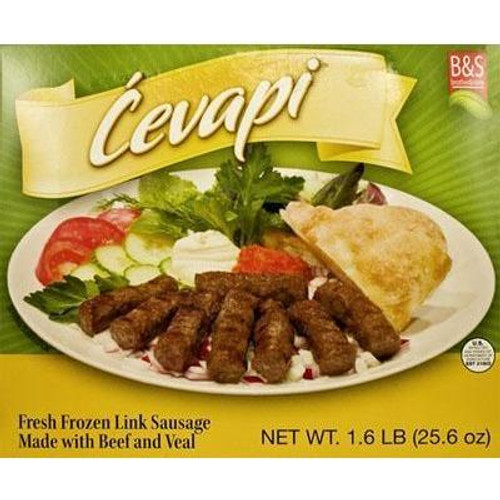 BROTHER&SISTER Cevapi Fresh Frozen Link Sausage 1.6lb (Green Pack) [GA STORE PICK UP AND LOCAL DELIVERY PRODUCTS ONLY]