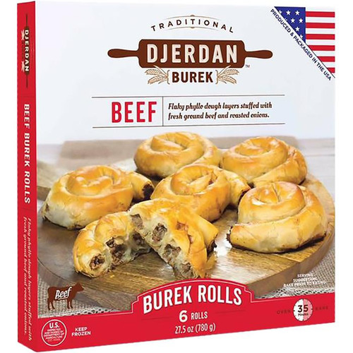 DJERDAN Burek Beef Rolls (6 Rolls) 780g [GA STORE PICK UP AND LOCAL DELIVERY PRODUCTS ONLY]