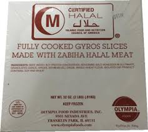 OLYMPIA FOODS Fully Cooked Halal Gyros Slices 2 lbs. (908 g) [GA STORE PICK UP AND LOCAL DELIVERY PRODUCTS ONLY]