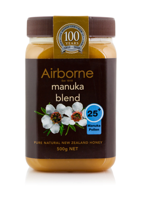 AIRBORNE Manuka Blend Pure Natural Honey  +25   500g