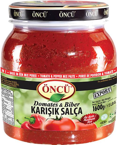 ONCU Tomato & Pepper Mix Paste (Domates ve Biber Karisik Salca) 1650g