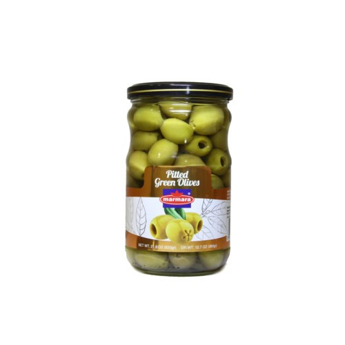 MARMARA Pitted Green Olives - 400g Net Drained Weight