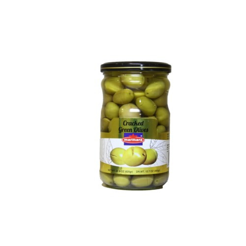 MARMARA Crackled Green Olives - 400g Net Drained Weight