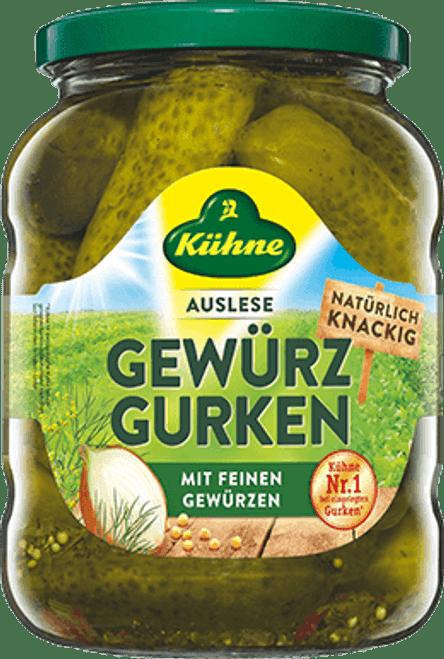 KUHNE Gewürz Gurken (Pickled Gherkins) 670g
