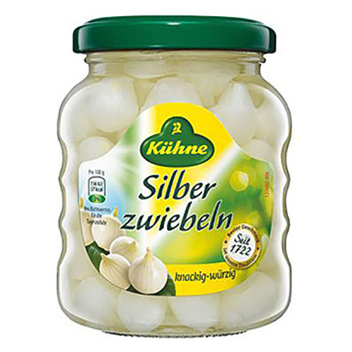 KUHNE Silber Zweibeln (Cocktail Onions) 330g