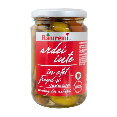 RAURENI Ardei Iute (Hot Peppers in Vinegar) 280g
