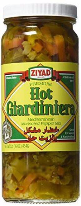ZIYAD Hot Giardiniera (Mediterranean Marinated Pepper Mix) 454g