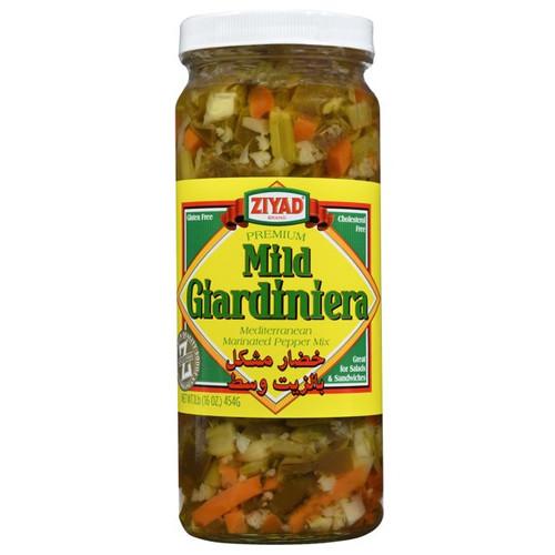 ZIYAD Mild Giardiniera (Mediterranean Marinated Pepper Mix) 454g