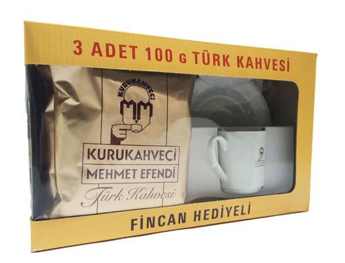 MEHMET EFENDI 3xTurkish Coffee (Cup Free) 300g