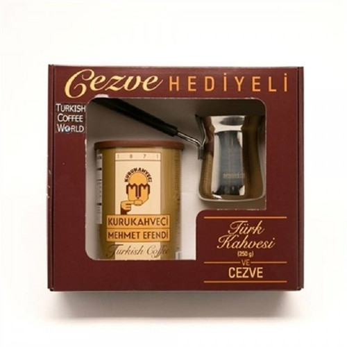 MEHMET EFENDI Turkish Coffee 250g (Free Coffee Pot)