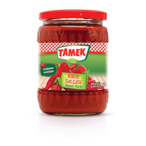TAMEK Mild Pepper Paste (Tatlı Biber Salçası) 540g