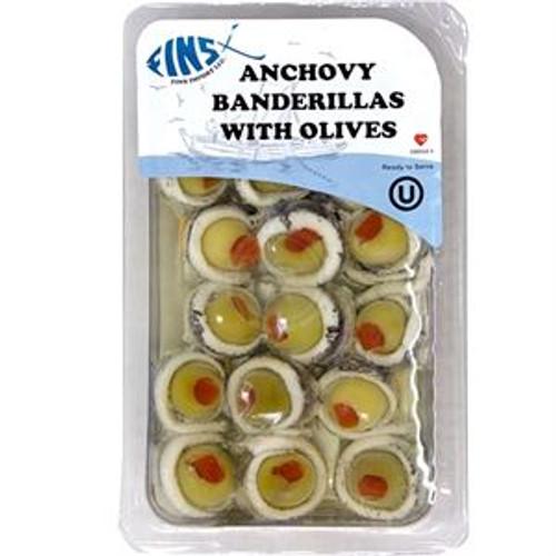 FINS Anchovy Bandirellas w/Olives 75g